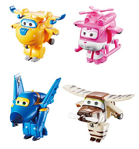 Super Wings – Transform-A-Bots 4 Pack – Donnie, Dizzy, Jerome & Bello