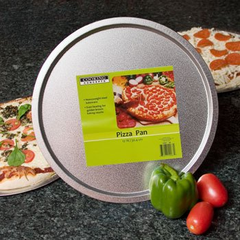 """Heavy Gauge Steel 12"""" Pizza Pan Fits In 12"""" Inch Toaster Ovens"""