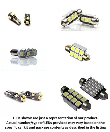 12Pc Mercedes Benz W203 C240 C320 C350 C55 Amg C-Class Led Lights Interior Package Kit 2000 2001 2002 2003 2004 2005 2006 2007