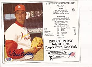 Steve Carlton autograph 8x10 photo psa dna Cardinals