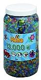 Toy - Hama 211-54 - B�gelperlen Dose mit circa 13.000 Perlen, transparent mit Glitter