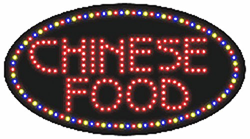 """Affordable Signs LED8101 LED Sign, 'CHINESE FOOD', 15"""" Height x 27"""" Length x 1"""" Width"""