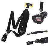 Universal Anti-Slip Sling Neck Strap Quick Rapid Release Camera Single Shoulder Belt for Digital SLR Dslr Canon Nikon Camera with Rapid Fasten, Comfort, Ergonomic Design Curved Camera Strap Cases