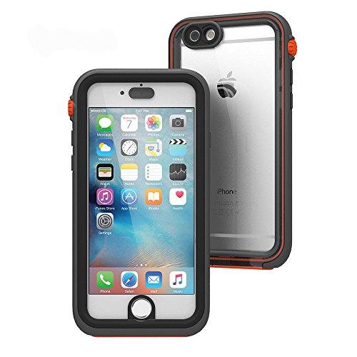 日本正規代理店品catalyst iPhone 6/6s 5m完全防水 / 防塵 /耐衝撃ケース ブラックオレンジ  CT-WPIP154-BKOR