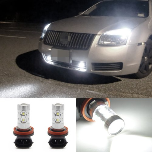 Partsam 1100Lm White H11 H8 H9 Seoul Chip Projector Lens Fog Driving Drl Led Lamps Bulbs Fit Honda Odyssey 2008 2009 2010 2011 2012 2013