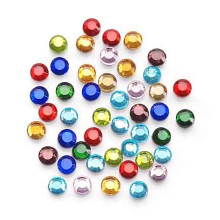 Read About Darice Rhinestone Setter Hot-Fix Embellishments 4mm 750/Pkg: Multi Glass Stone