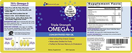 Triple Strength Omega 3 By Innovixlabs Concentrated