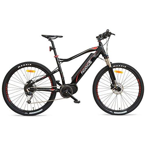AGOGS-MTB-Max-275-Zoll-Elektrofahrrad-Mountainbike-48-cm-Alurahmen-Bafang-Mittelmotor-250W-36V-470Wh-Samsung-Akku-Shimano-Deore-9-Gang-Schaltung-hydralische-Scheibenbremsen-E-MTB-E-Bike-Pedelec