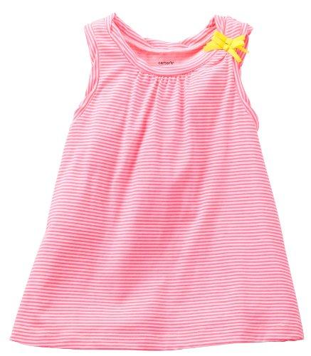 Carter'S Girls' Striped Tank Top (Toddler/Kids) - Pink/White - 3T front-158655