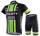 サイクルジャージ サイクルウェア 2016 上下セット メンズ 半袖 春夏用 自転車ウェア サイクリングウェア (S, D-7)