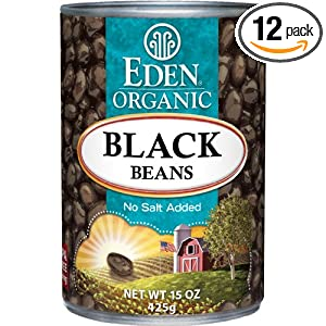 review Eden Organic Black Beans, No Salt Added, 15-Ounce Cans (Pack of 12)