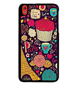 Fuson Premium 2D Back Case Cover Love in Paris With Multi Background Degined For HTC Desire 826::HTC Desire 826 Dual