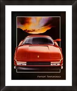 """""""Ferrari Testarossa"""" By Bernard Hugill, framed/museum matted 27""""x 29"""""""