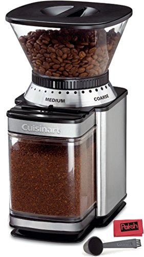 Appliance Bundle - Automatic Burr Mill Grinder for Espresso, French Press, and Auto Drip Coffee, and Nuts - Brush Stainless Steel and Black - Bundled with Cloth (Cuisinart Burr Grinder compare prices)