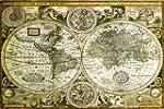 """Poster Carte du Monde """"ancienne"""" (91,..."""