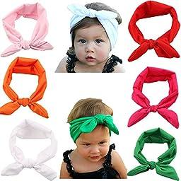 Mookiraer® 6Pcs Baby\'s Headbands Turban Cotton Headband Head Wrap Soft Hair Band (my23-002)