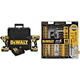 DEWALT DCK299P2 20V MAX XR 5.0Ah Premium Cordless Hammerdrill & Impact Driver Combo Kit with DWA2T40IR IMPACT READY FlexTorq Screw Driving Set, 40-Piece