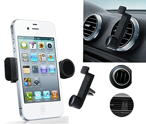 Portable Adjustable Car Air Vent Mount Holder 3.5'' - 6.3'' For Mobile Cell Phone iPhone 3 4 4S 5 5S 5C Samsung Galaxy Nokia HTC Blackberry Choose Color (Black)