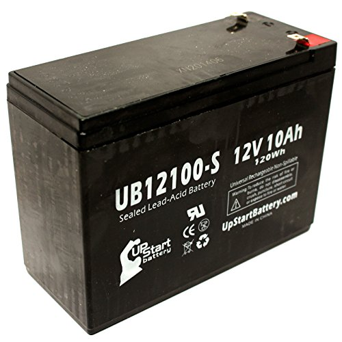 Currie Gt 50 Electric Scooter 3 Battery - Replacement Ub12100-S Universal Sealed Lead Acid Battery (12V, 10Ah, 10000Mah, F2 Terminal, Agm, Sla)
