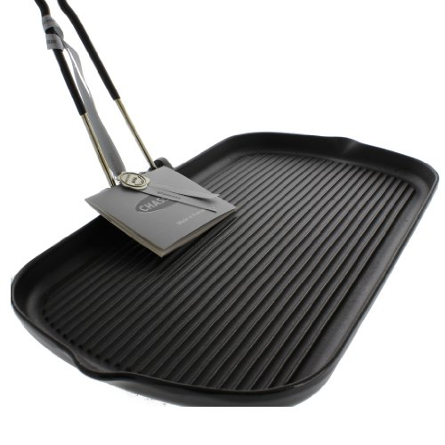 Chasseur by French Home Cast Iron  Rectangular Grill with Folding Handle -14