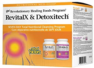 Natural Factors Revitalx and Detoxitech 7 Day Kit Powder