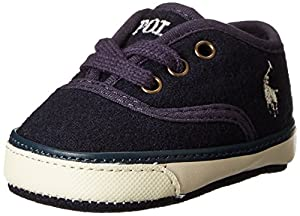 Ralph Lauren Layette Carver Crib Shoe (Infant/Toddler),Navy,1 M US Infant