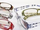 老眼鏡 おしゃれPC用老眼鏡 UV&ブルーカット おしゃれな男性用・女性用 2103PC (+1.00, ブラウン)