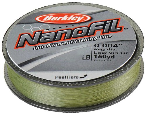 Picture of berkley nanofil uni filament 009 inch diameter for Fishing line test