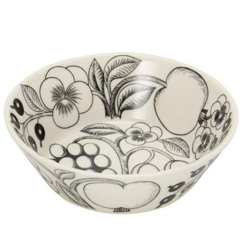 Arabia アラビア Paratiisi BLACK&WHITE Bowl ボウル 17cm パラティッシ ブラック ホワイト フィンランド北欧食器 ブラックパラティッシ Birger Kaipiainen 64 1180006672-3 並行輸入品