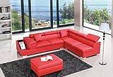 Divani Casa T306 - Modern Leather Sectional Sofa