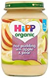 HiPP Organic Stage 2 From 7 Months Rice Pudding with Apple and Pear 6 x 190 g (Pack of 2, Total 12 Pots)