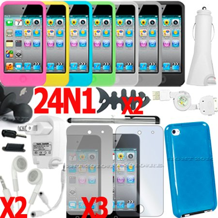 24 in 1 Accessory Bundle Case Car Charger for