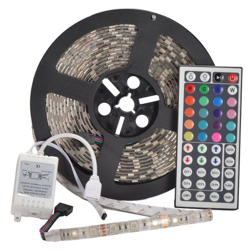 Yhg 12V Flexible Rgb Led Strip Light, Led Tape, Multi-Colored, 300 Units 5050 Leds, Waterproof, Adhesive Light Strips, Pack Of 5M
