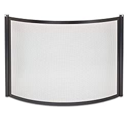 Pilgrim 18345 Home and Hearth Metro Bowed Fireplace Screen, Black and Polished Nickel from Pilgrim Home and Hearth