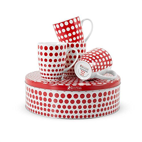 Polka Dot Mugs and Cake Tin