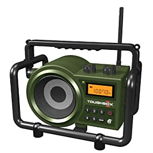 Sangean America, Inc. TB-100 (Toughbox) AM/FM/AUX-In Ultra Rugged Digital Tuning Rechargeable Radio (Green)