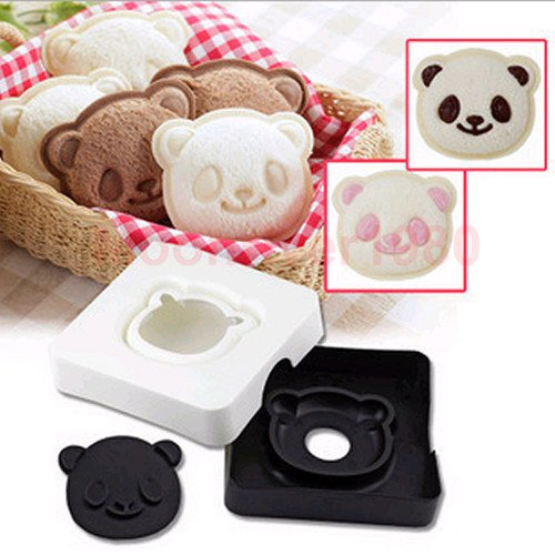 Chris's Home New Big Eye Panda Shape Sandwich Mold Bread Cake Mold Maker Cutter Craft DIY