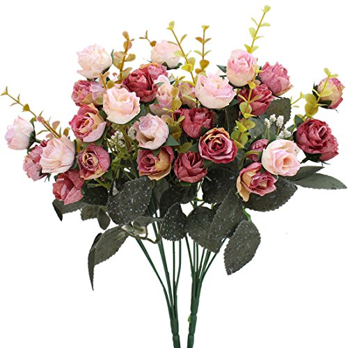 luyue-7-branch-21-heads-artificial-silk-fake-flowers-leaf-rose-wedding-floral-decor-bouquetpack-of-2