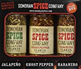 Ghost Pepper - Habanero - Jalapeno Flakes 3 Pack