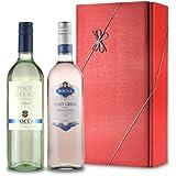 Le Bon Vin Pinot Grigio Twin Wine Gift Set 75 cl (Case of 2)