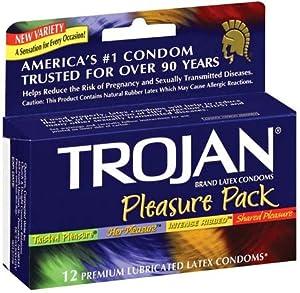 Trojan Pleasure Pack - 3 Twisted Pleasure, 3 Her Pleasure, 3 Mint Tingle, & 3 Shared Pleasure, 12 pack,(Trojan)