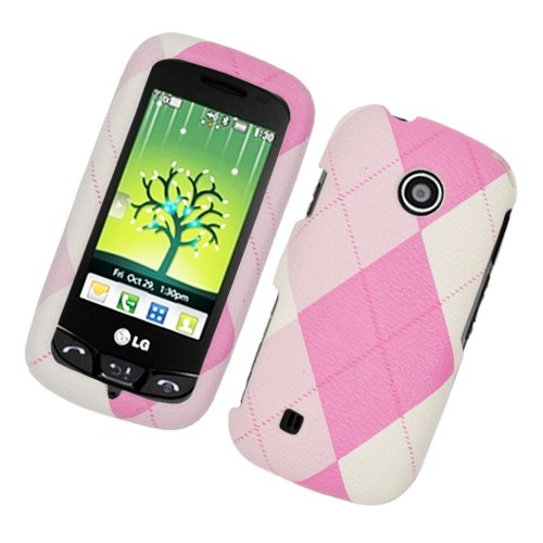 Cell Accessories For Less (Tm) Lg Beacon Un270/Mn270/Vn270 Cosmos Touch Fabric Case Pink And With Argyle 406 - By Thetargetbuys