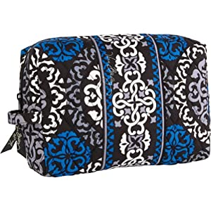 Vera Bradley Large Cosmetic (Canterberry Cobalt)
