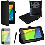 MOFRED® Black New Google Nexus 7 2 II Tablet (Launched July 2013) Case-(Second Updated Version of Case)-MOFRED® Executive Multi Function Standby Case for the Google Nexus 7 II-2nd Generation Tablet 16GB or 32GB eMMC ,Qualcomm Snapdragon S4 1.5GHz Processor, Screen Protector + Stylus Pen (Available in Mutiple Colors)