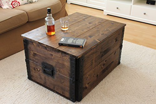 holzkiste truhe couchtisch beistelltisch vintage shabby. Black Bedroom Furniture Sets. Home Design Ideas