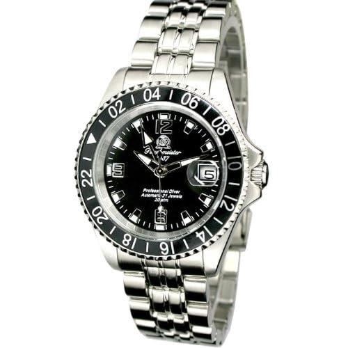 [トーチマイスター1937]Tauchmeister1937 腕時計 ドイツ製プローダイバーズ U-BOOT 200M防水サブマリーナ 自動巻GMT T0082 (並行輸入品)