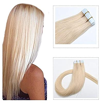 Mario Hair Tape In Human Hair Extensions Silky Straight Skin Weft Human Remy Hair