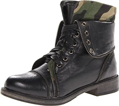 Amazon.com: Skechers Women's Awol-Cute Combat Boot,Black ...