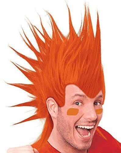 1 X Orange Mohawk Wigs