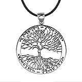 Pendentif argent élégant arbre de vie